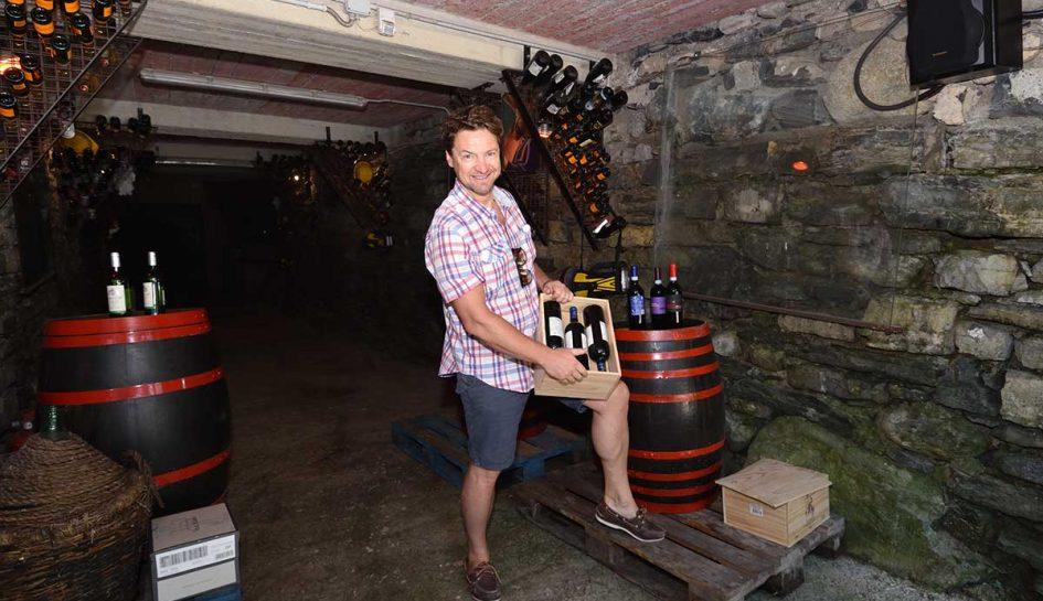 BellagioPoint.com - Giulio De Bernardi at the wine cavern
